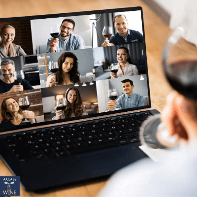 Zoom virtual wine tasting experience